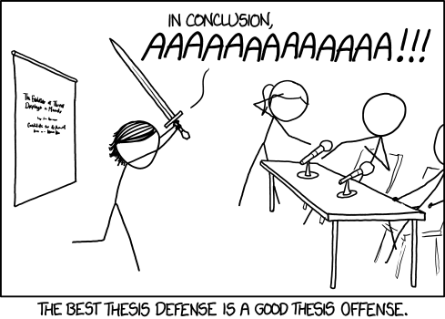 thesis defending